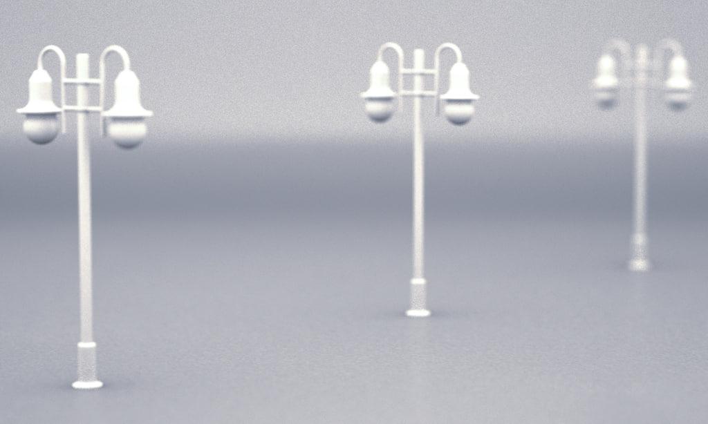 3dsmax raw street lamp ho scale