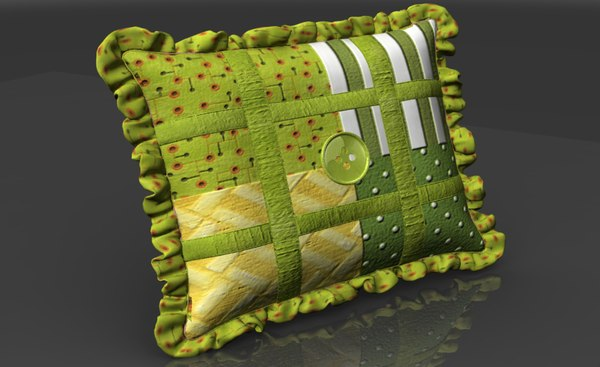 country pillow obj