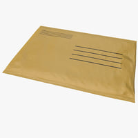 3d small yellow envelope model