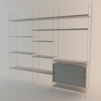 3d string shelf model