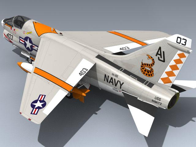 3d model navy a-7e