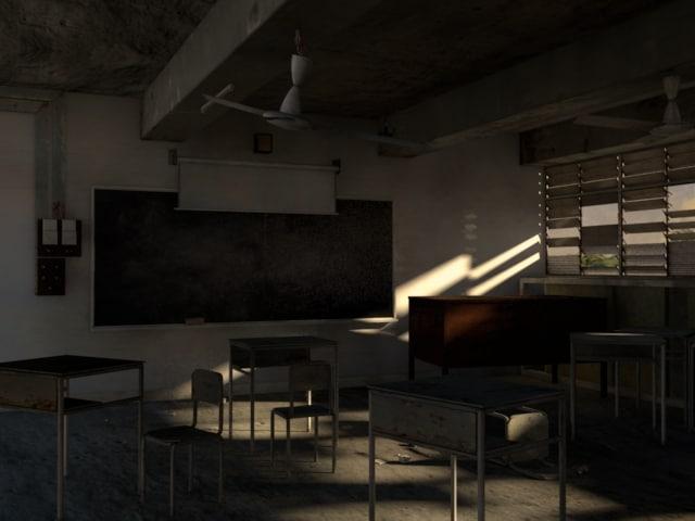 3dsmax abandoned classroom