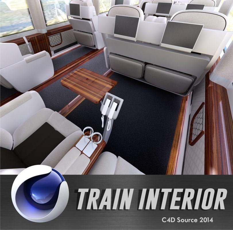 3d train interior