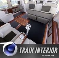 train interior 3d c4d