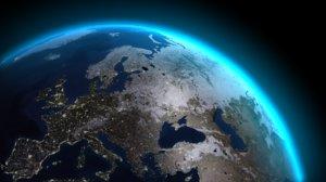 earth light sci-fi night 3d model