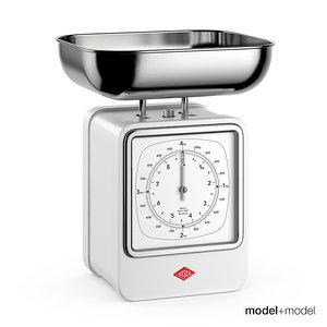 3ds max wesco retro scale clock