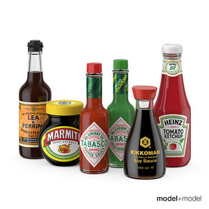 sauces set 3d obj
