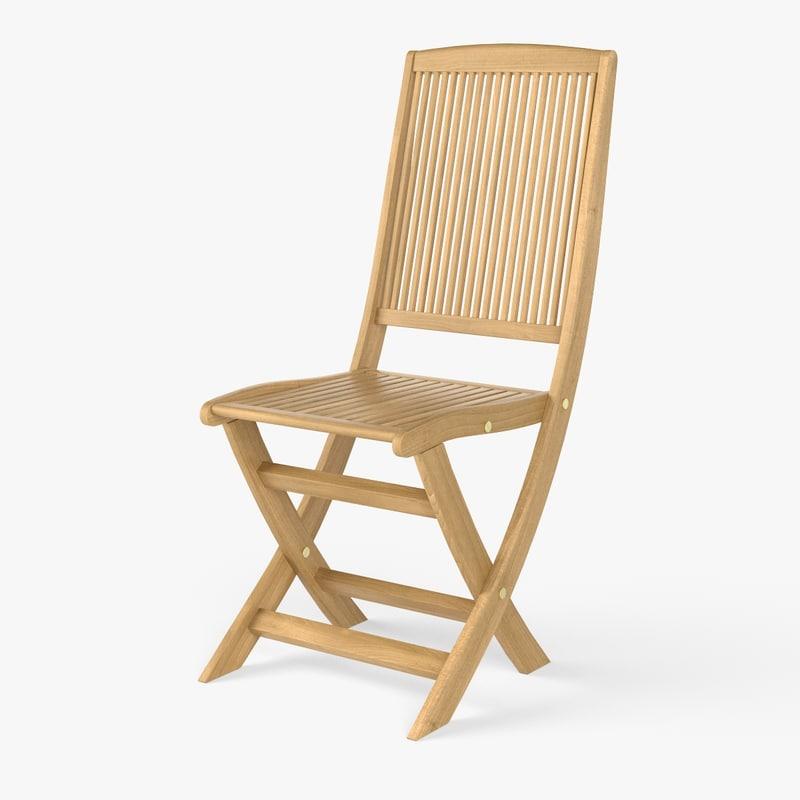 fbx wooden chair