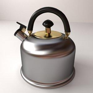 3d whistling kettle