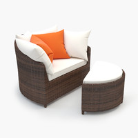 3ds max lounge rattan chair