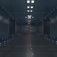 sci fi corridor c4d