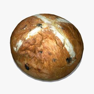 crusty loaf 3d max