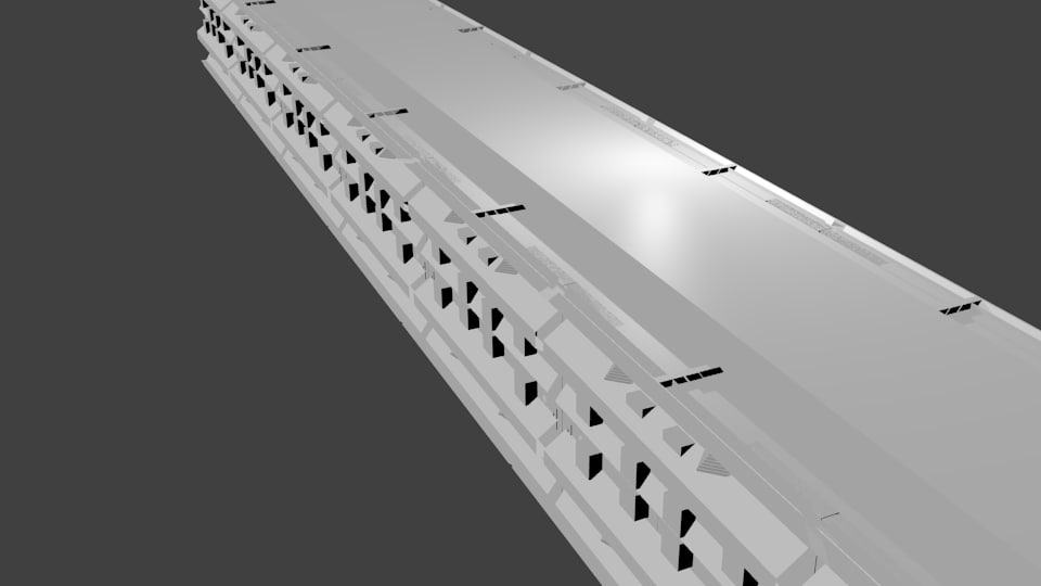 3d model of corridor space