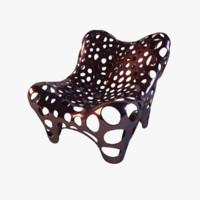 armchair fauteuil ii dark obj