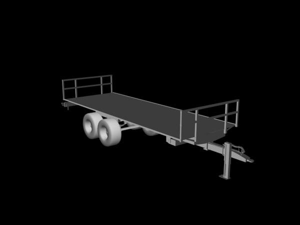 3d trailer bales model