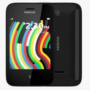 3d model nokia asha 230 black