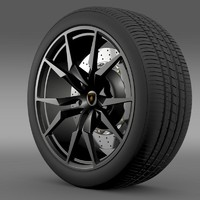 lamborghini aventador50 ae wheel 3d max
