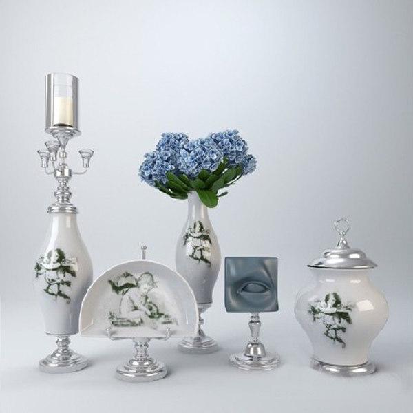 decorative vase 3d