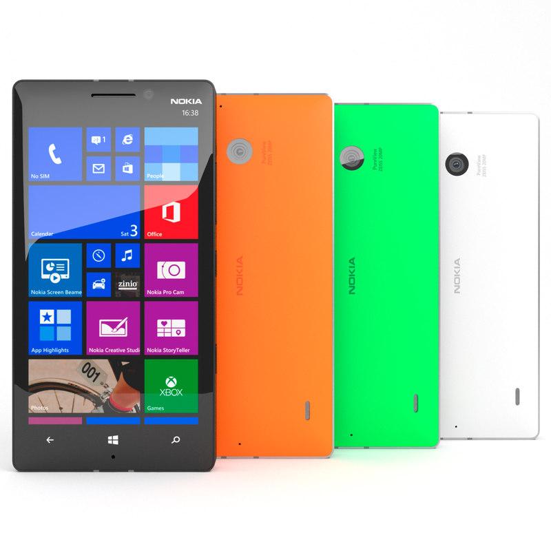 3d model nokia lumia 930