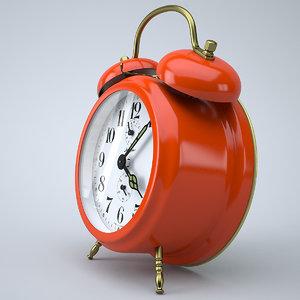 3d vintage alarm clock