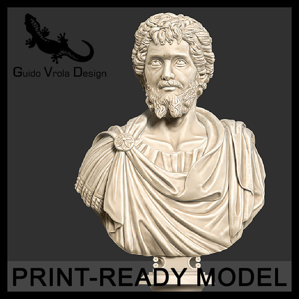 printable septimius severus emperor 3d obj
