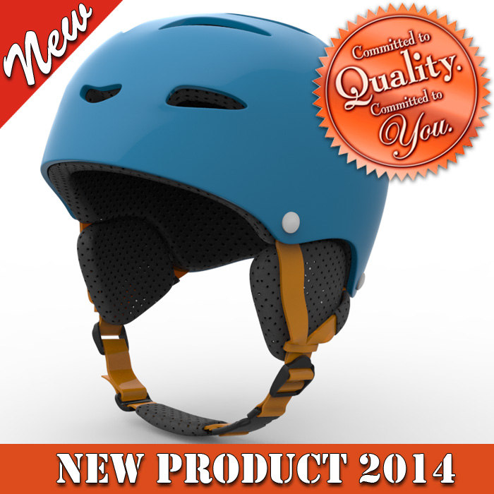 3d skiing helmet modeled