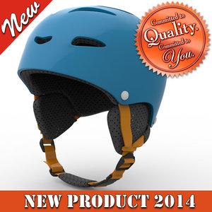 3d skiing helmet modeled