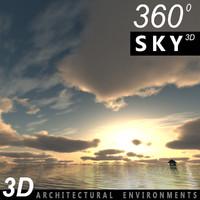 Sky 3D Sunset 015