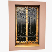 3d model windows security bars