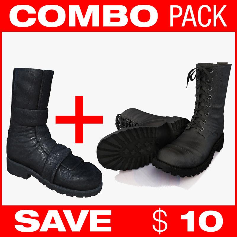 combo boots 3d 3ds