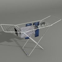 3d model of clothes dryer