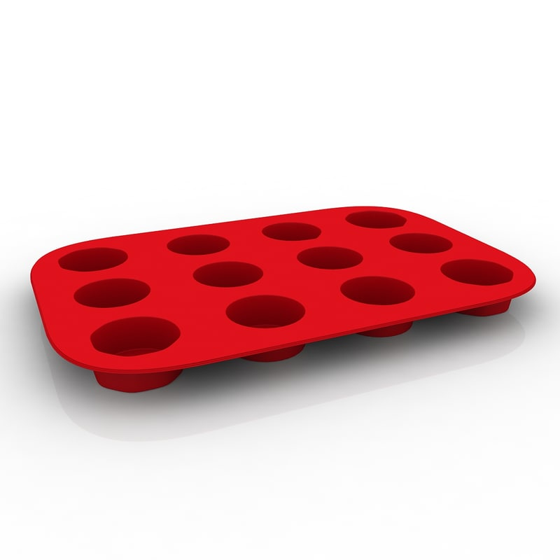 bellemain 12-cup muffin pan 3d max