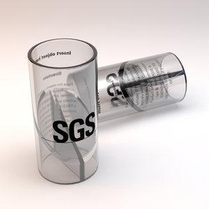 chocking test tube 3d model