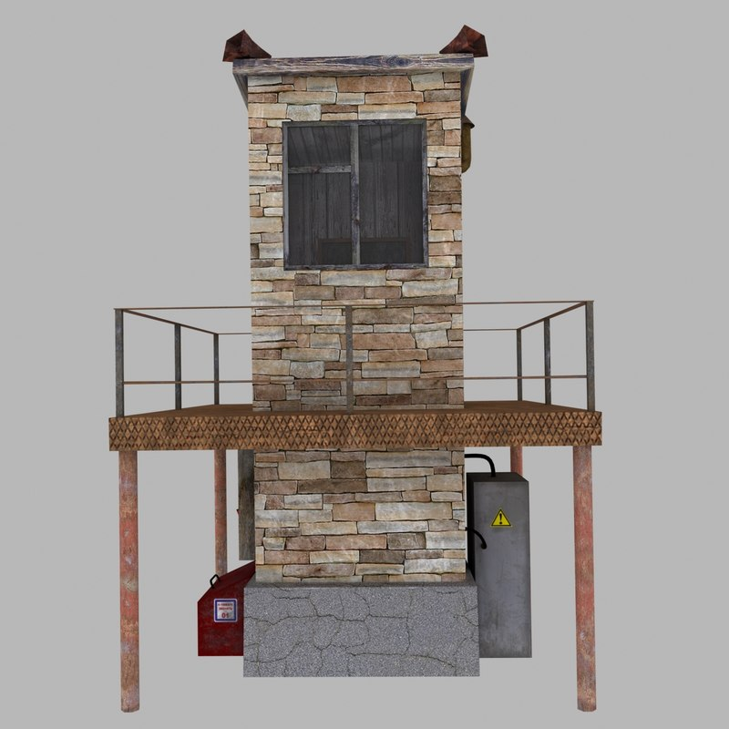 3d model watchtower tower