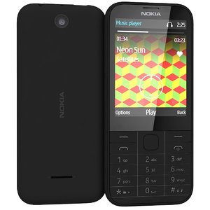 3d model nokia 225 black