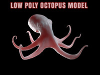 Low Poly Octopus 3D Base Model