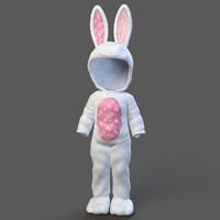 Child Rabbit Outfit Rigged
