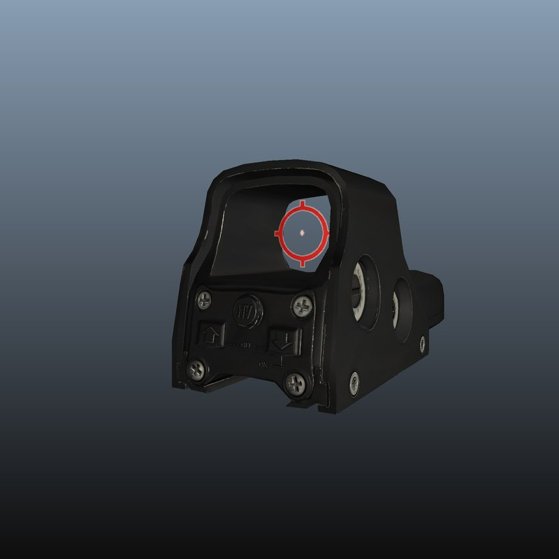 3d model of eotech sight