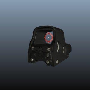 3d model of eotech sight