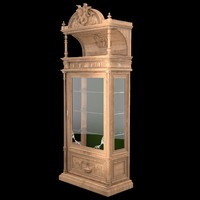 Classical antiquarian room show-window