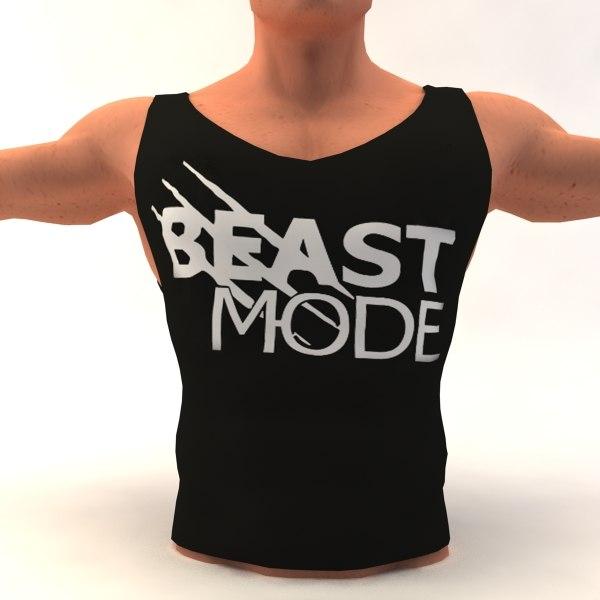 3d model bodybuilding t-shirt body