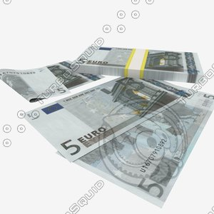 obj 5 euro banknote