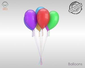 obj realistic balloons