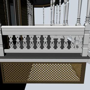 3d decorative baluster model