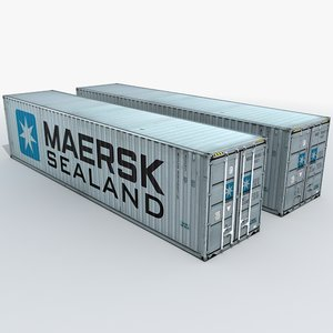 3d model maersk shipping container
