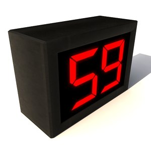 3d countdown timer clock digital