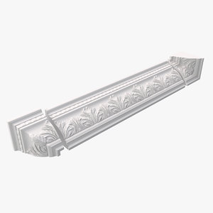 decorative crown molding 3d model