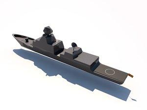 f100 frigates aegis 3d model