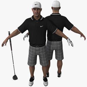 golfer rigged 3d model