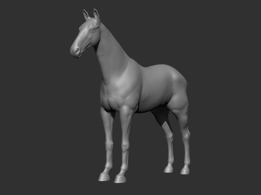 3ds max high-poly horse